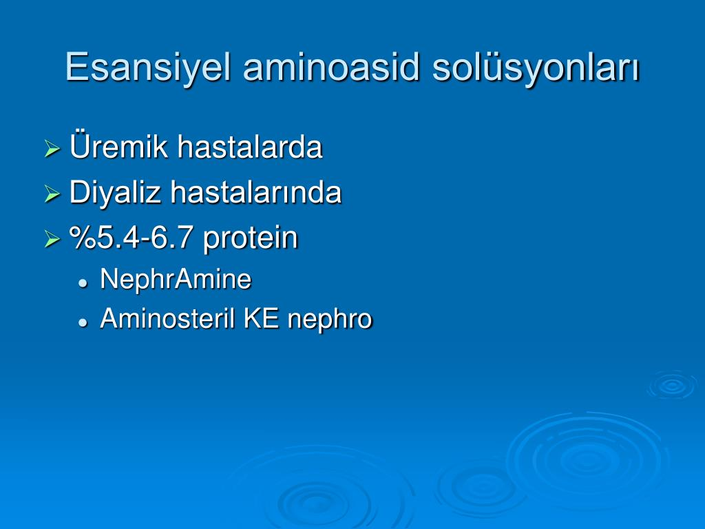 Esansiyel aminoasid solüsyonları