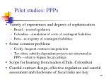 pilot studies ppps