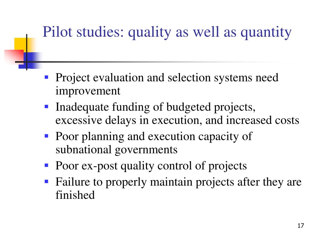 Pilot studies: quality as well as quantity