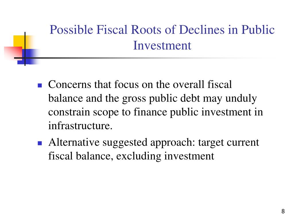 Possible Fiscal Roots of Declines in Public Investment