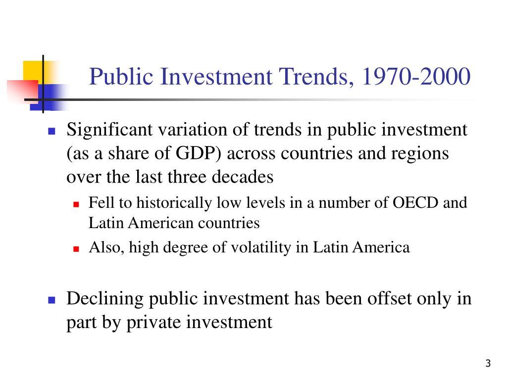 Public Investment Trends, 1970-2000