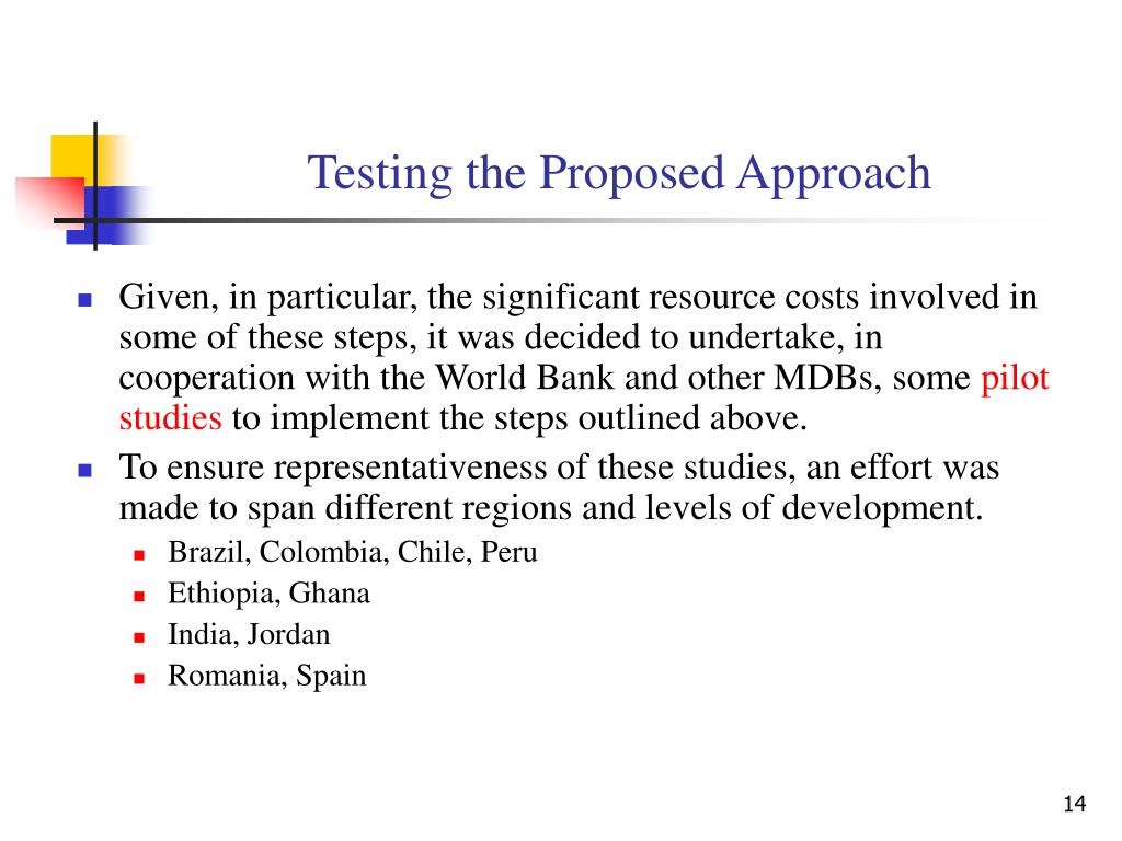 Testing the Proposed Approach