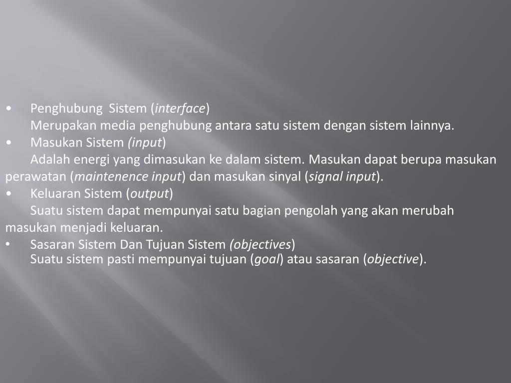 Penghubung  Sistem (