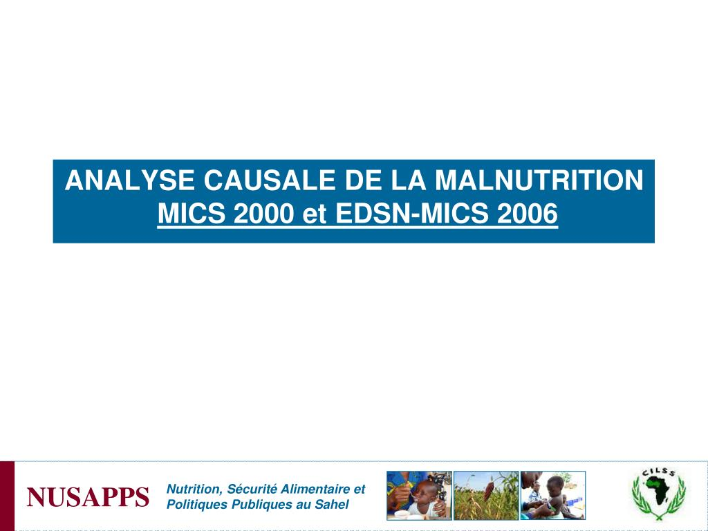 ANALYSE CAUSALE DE LA MALNUTRITION