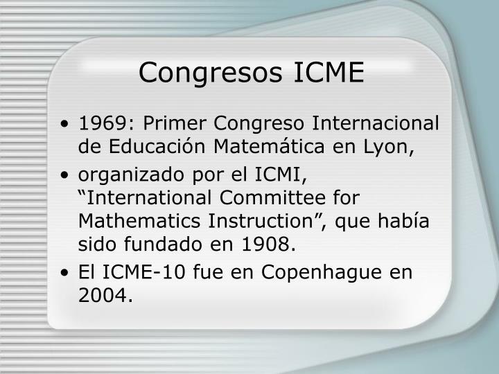 Congresos ICME