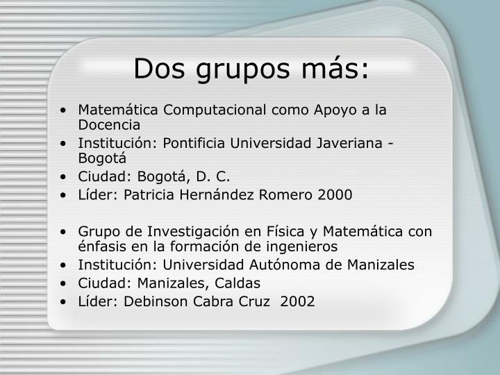 Dos grupos m