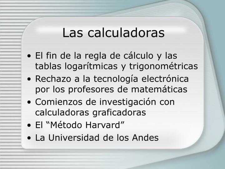 Las calculadoras