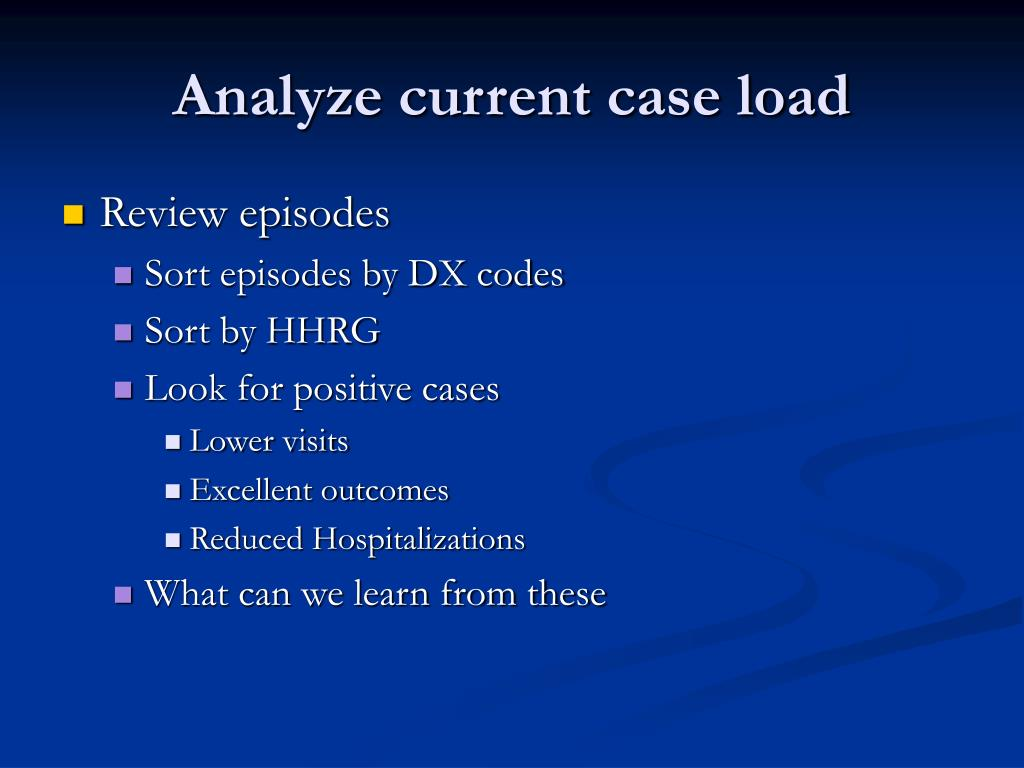Analyze current case load