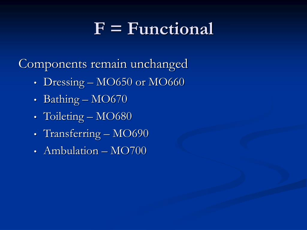 F = Functional