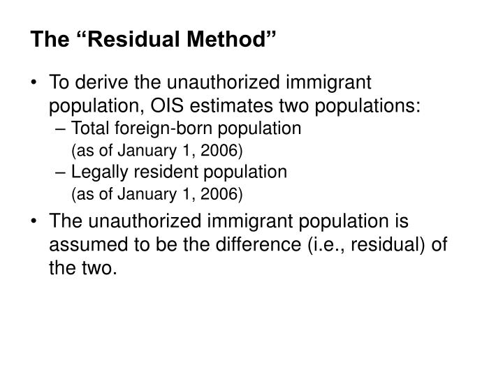 "The ""Residual Method"""