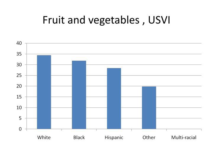 Fruit and vegetables , USVI
