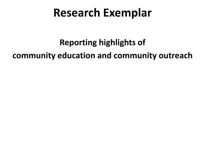 Research Exemplar