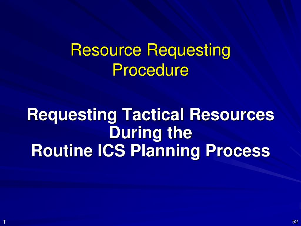 Resource Requesting