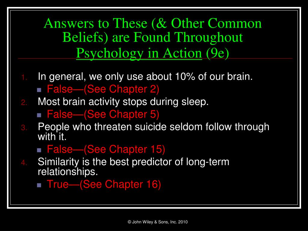 Answers to These (& Other Common Beliefs) are Found Throughout