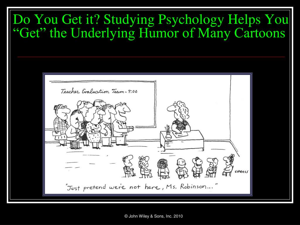 "Do You Get it? Studying Psychology Helps You ""Get"" the Underlying Humor of Many Cartoons"