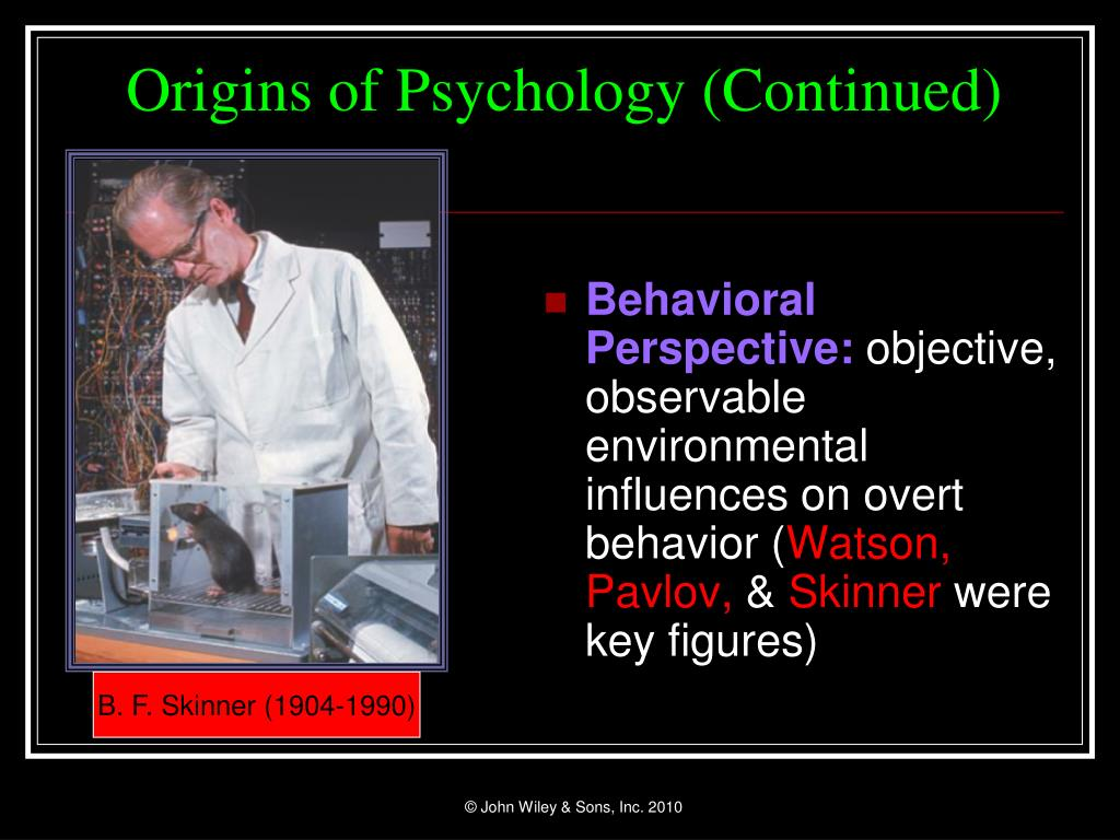 Behavioral Perspective:
