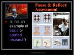 pause reflect assessment