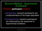 research methods experimental continued34