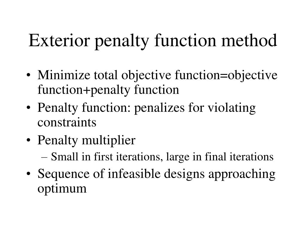 Exterior penalty function method