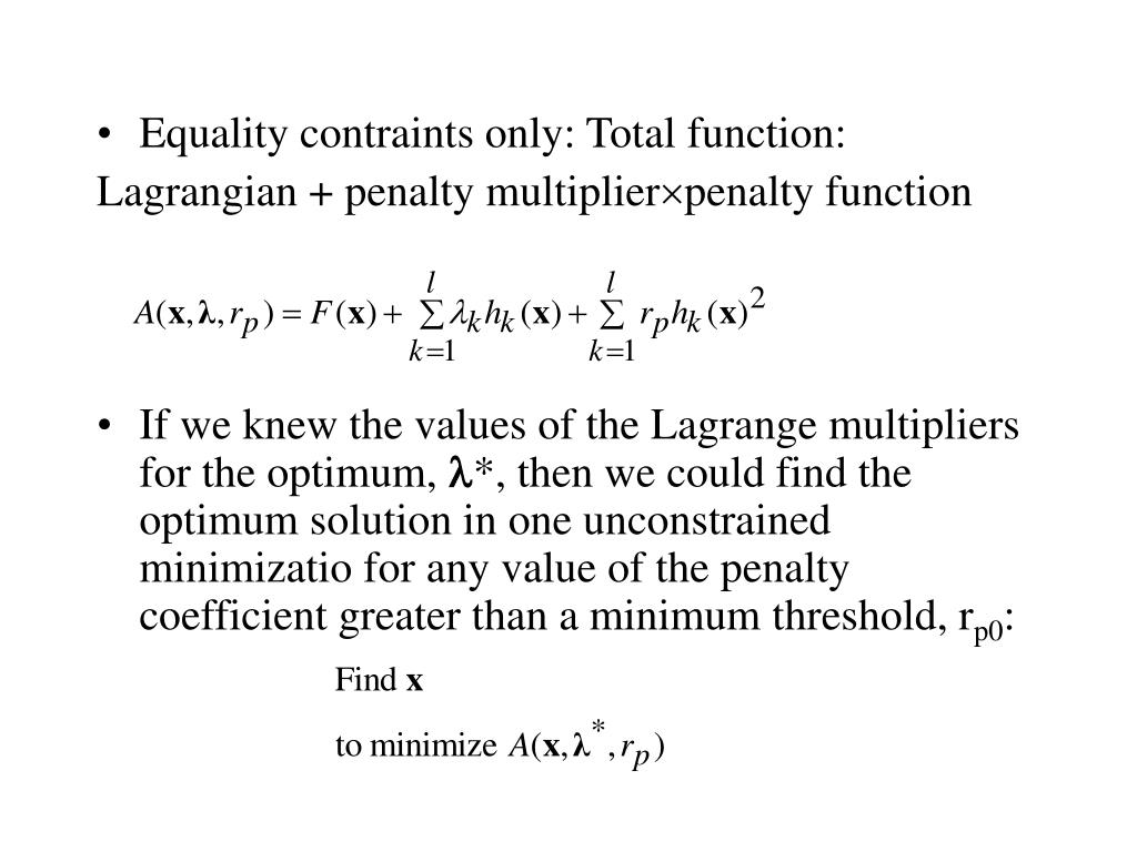 Equality contraints only: Total function: