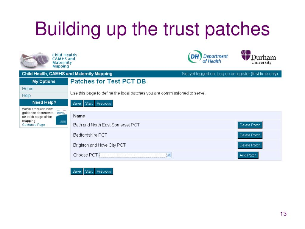 Building up the trust patches