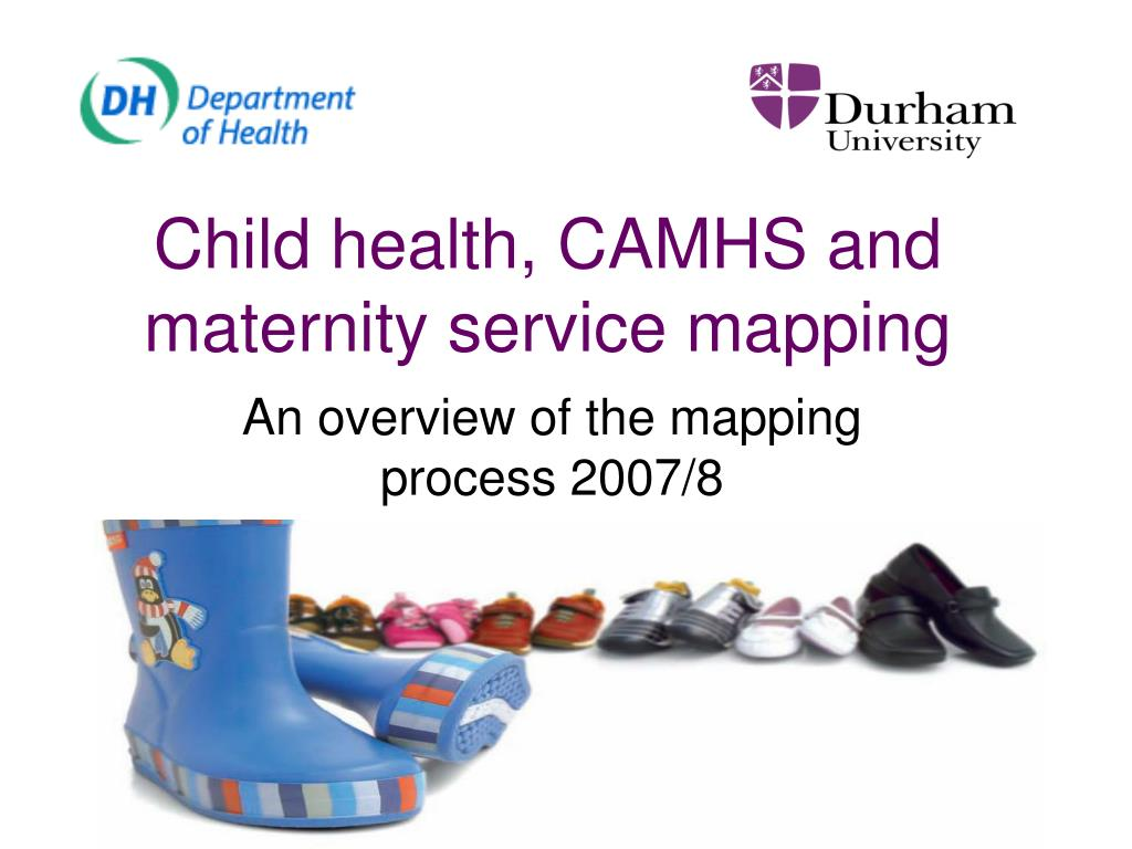 Child health, CAMHS and maternity service mapping