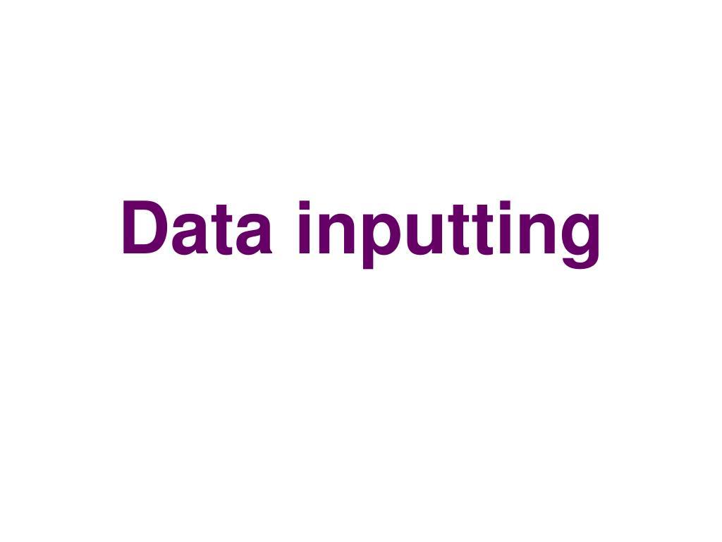 Data inputting