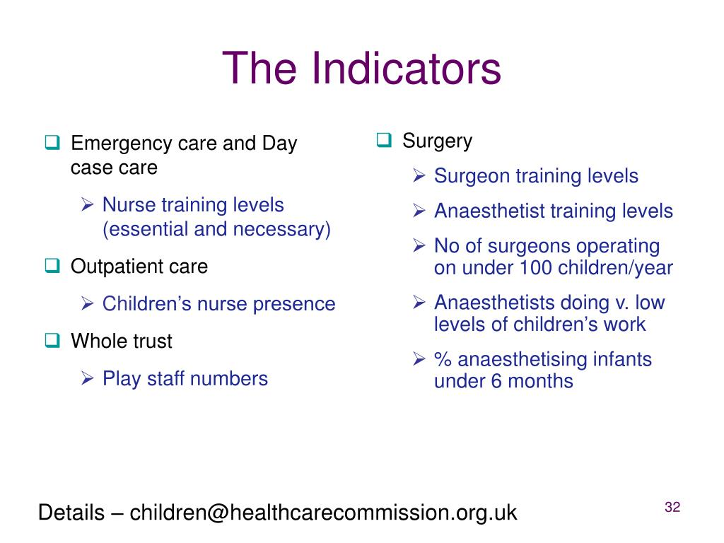 Emergency care and Day case care