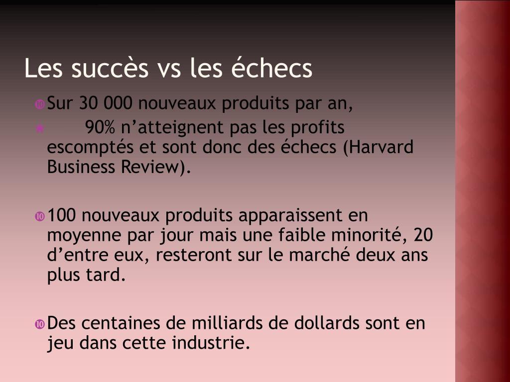 Les succès vs les échecs