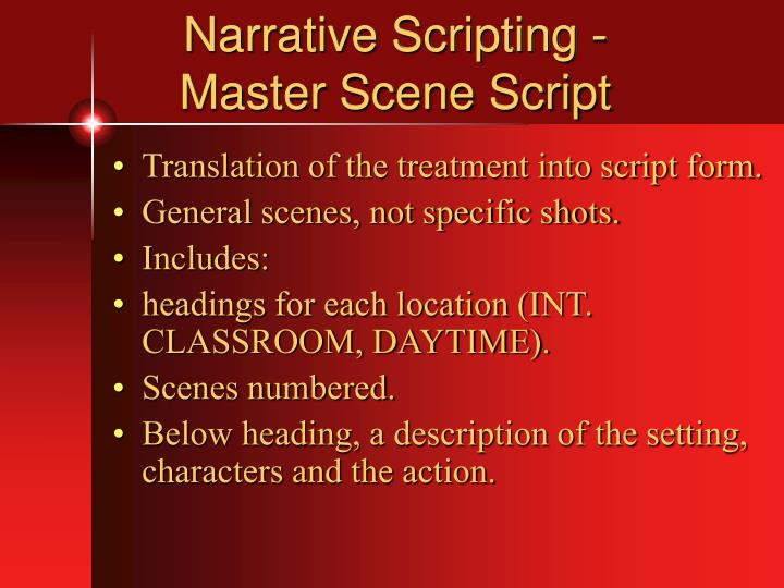 Narrative Scripting -