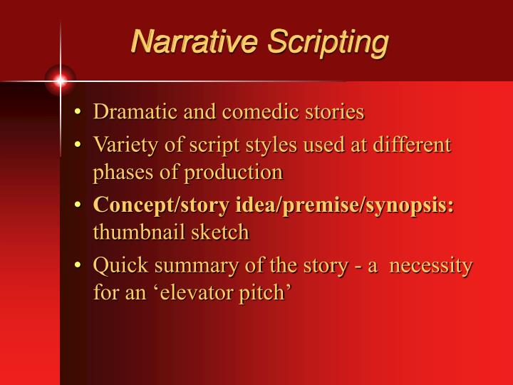 Narrative Scripting