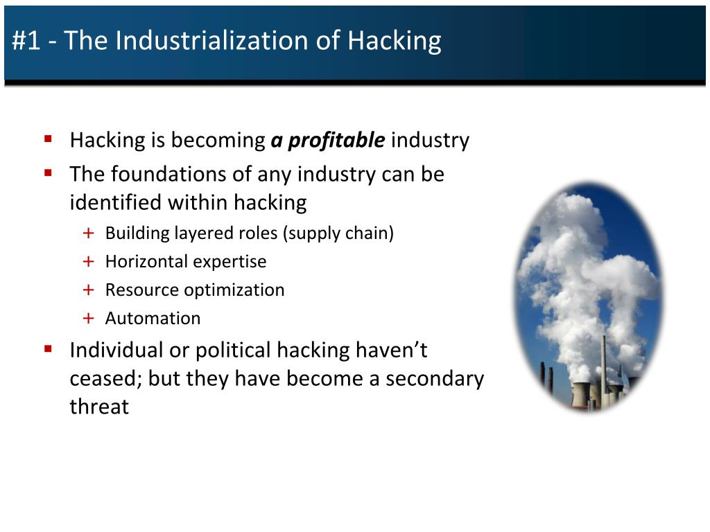 #1 - The Industrialization of Hacking