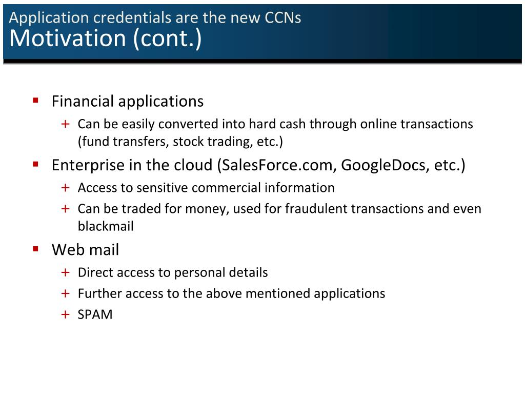 Application credentials are the new CCNs