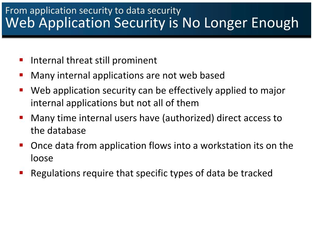 From application security to data security