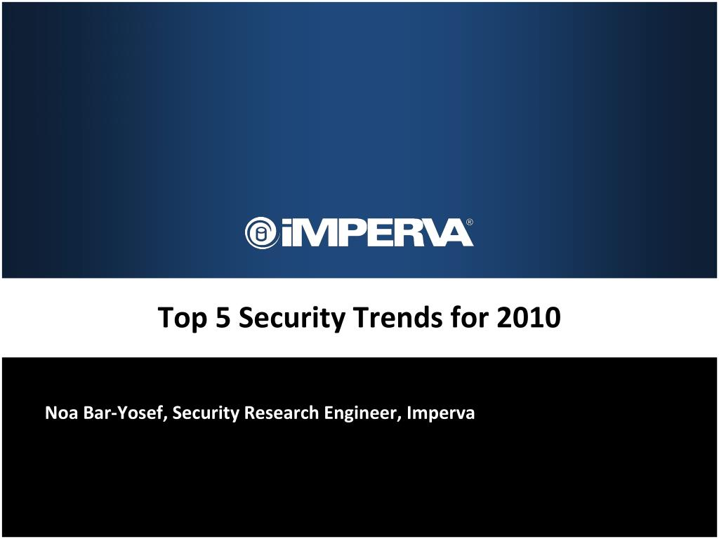 Top 5 Security Trends for 2010
