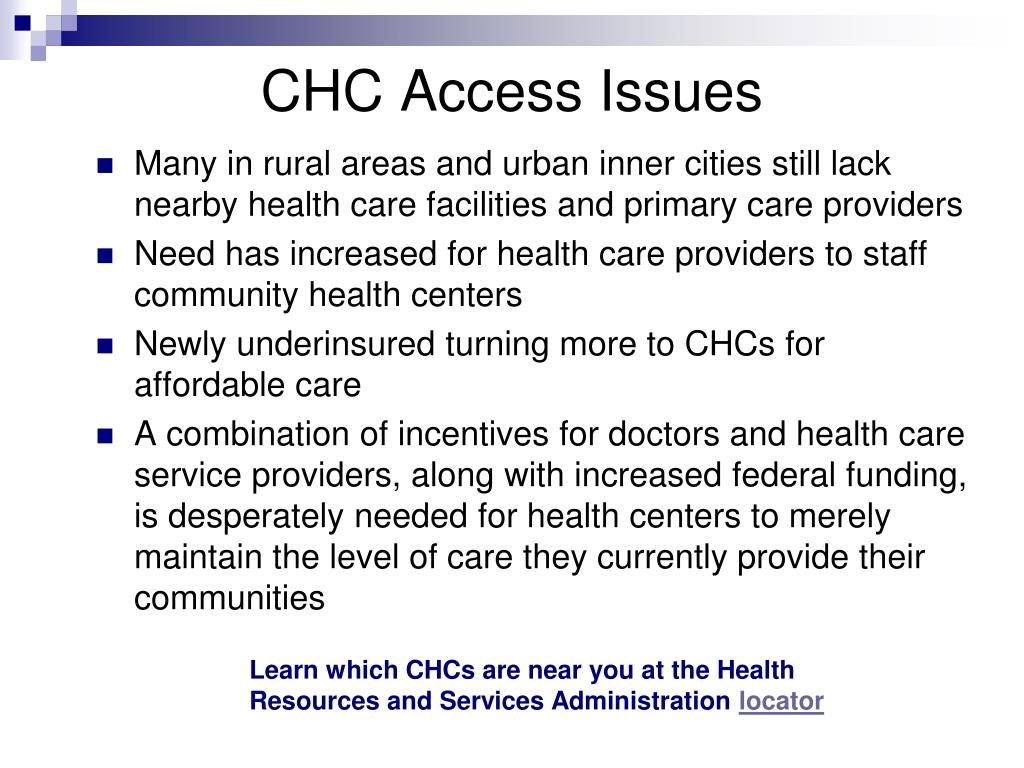 CHC Access Issues