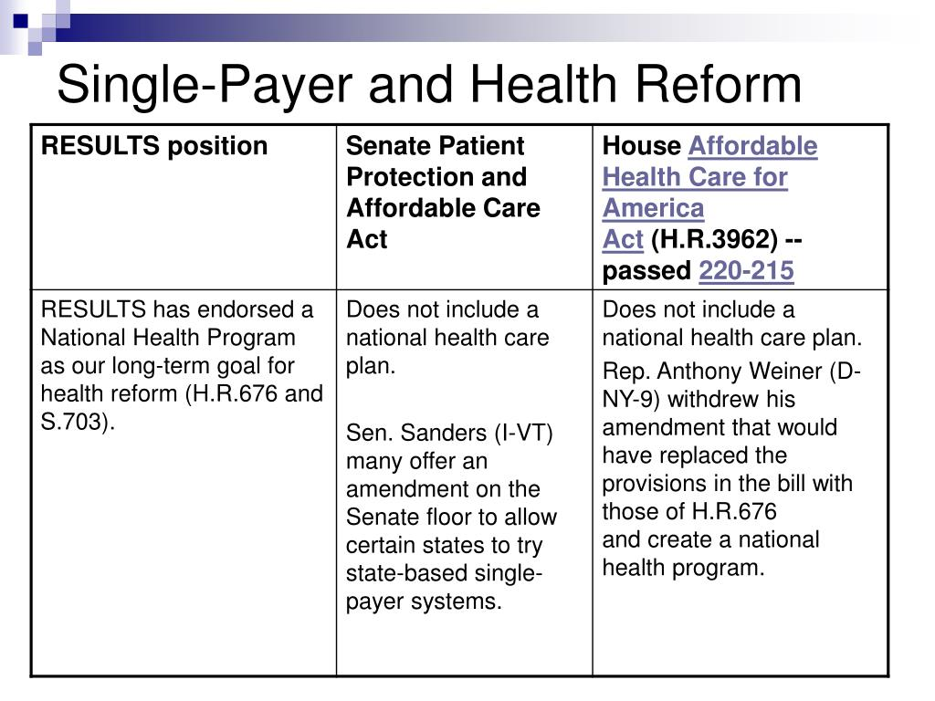 Single-Payer and Health Reform