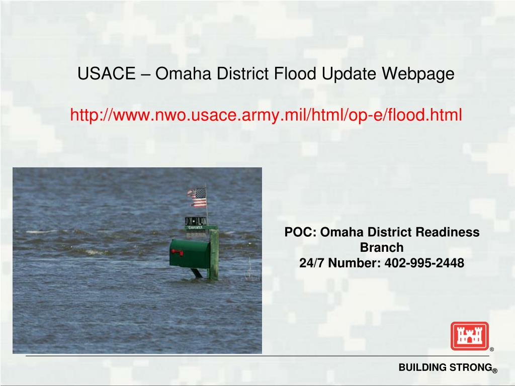 USACE – Omaha District Flood Update Webpage