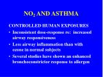 no 2 and asthma