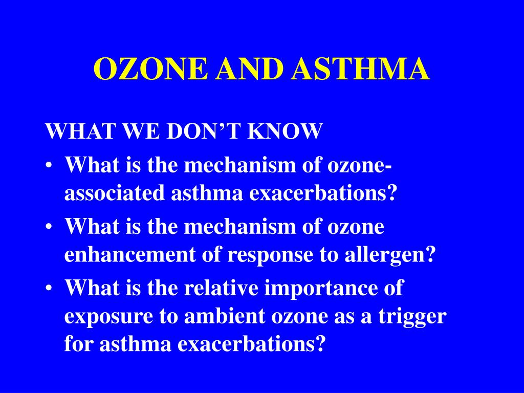 OZONE AND ASTHMA
