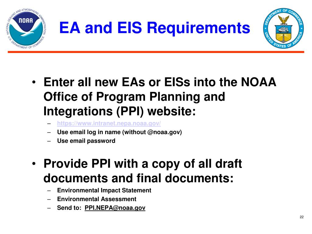 EA and EIS Requirements