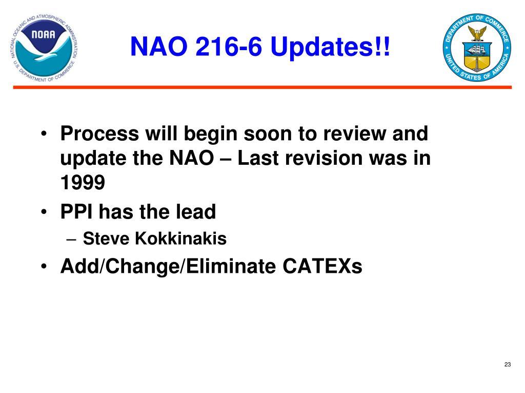 NAO 216-6 Updates!!