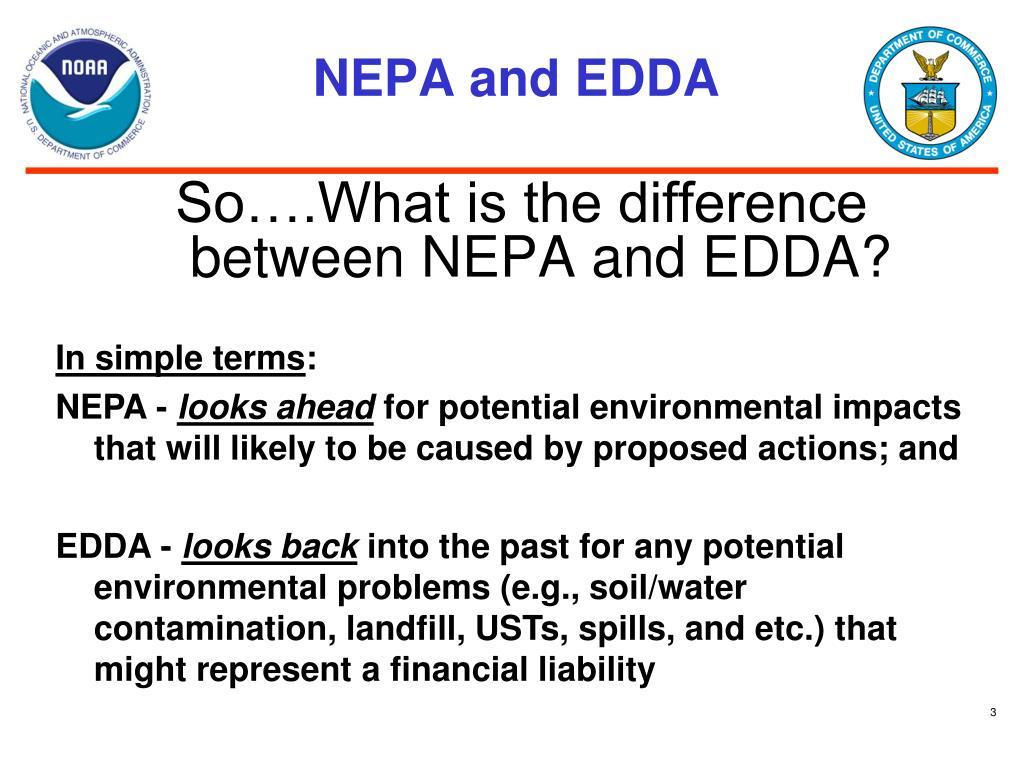 NEPA and EDDA
