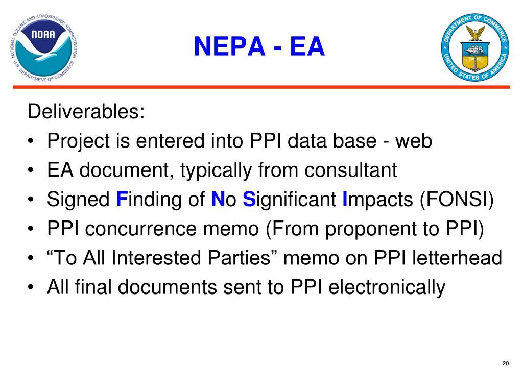 NEPA - EA