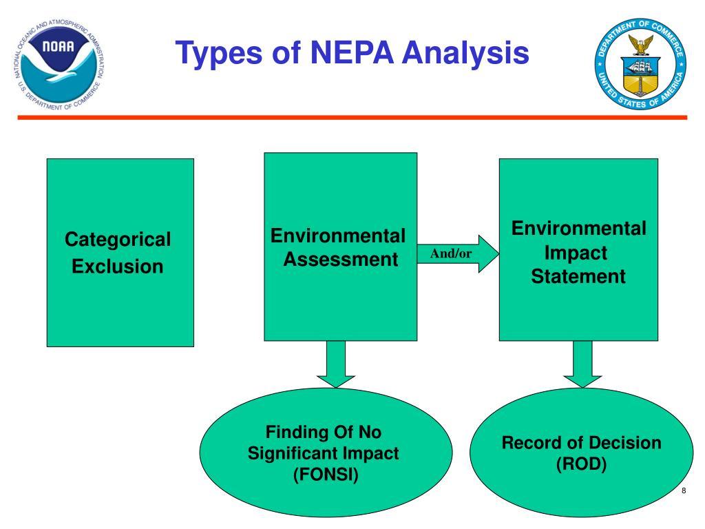 Types of NEPA Analysis