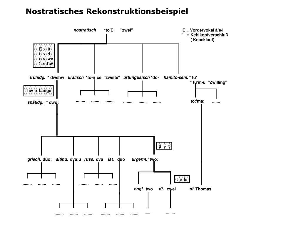 Nostratisches Rekonstruktionsbeispiel