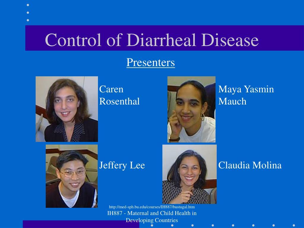 Control of Diarrheal Disease