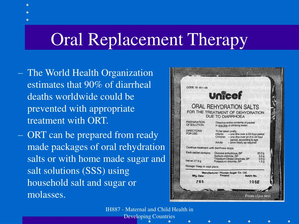 Oral Replacement Therapy