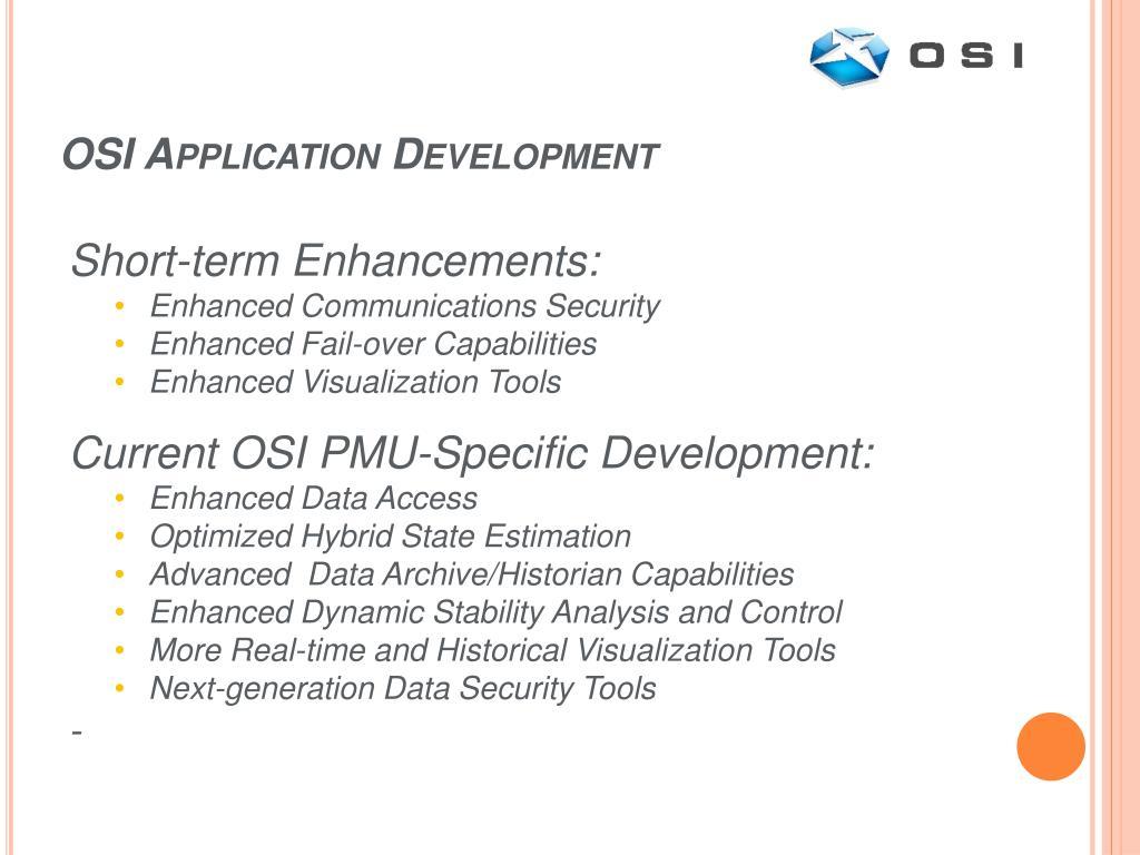 OSI Application Development