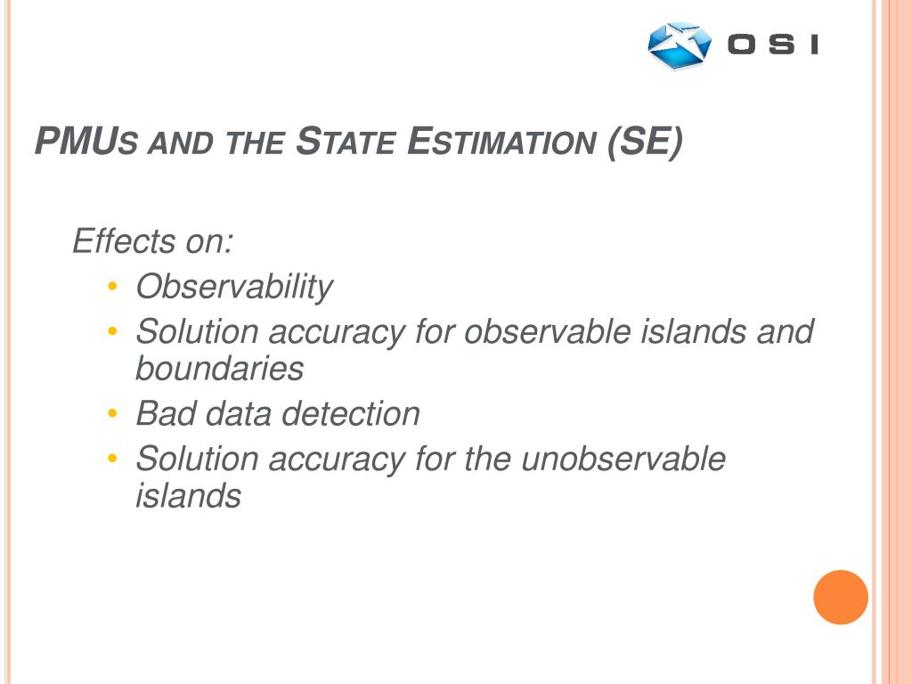 PMUs and the State Estimation (SE)